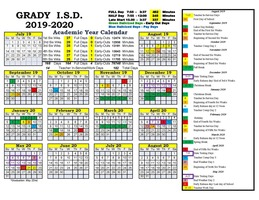 2019-2020 approved school calendar